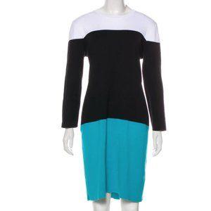 Michael Kors Long Sleeve Colorblock Dress S